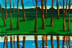 Paweł Kluza - Krajobraz z Buczyną - obraz olejny na płótnie