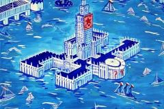 Paweł Kluza - Pałac Kultury i Nauki Pod Wodą - obraz olejny na płótnie