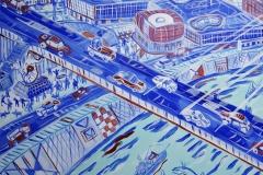 Paweł Kluza - Syrenka Warszawska - obraz olejny na płótnie
