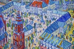 Paweł Kluza - Kielce - obraz olejny na płótnie