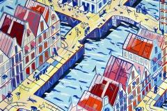 Paweł Kluza - Amsterdam - obraz olejny na płótnie
