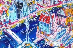 Paweł Kluza - Gdańsk Żuraw - obraz olejny na płótnie
