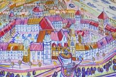 Paweł Kluza - Kraków  Wawel- obraz olejny na płótnie