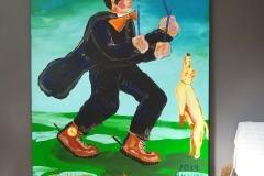 Paweł Kluza - Moniuszko - obraz olejny na płótnie