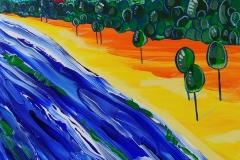Paweł Kluza - Sopot - obraz olejny na płótnie