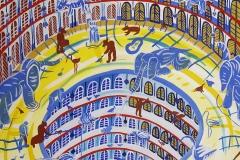 Paweł Kluza - Wieża Babel - akwarela