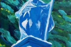 Paweł Kluza - Zimowy Zygmunt - obraz olejny na płótnie