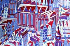 Paweł Kluza - Gdańsk - obraz olejny na płótnie