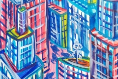 Paweł Kluza - NY - obraz olejny na płótnie