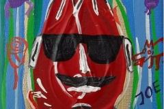 Paweł Kluza / Edward Dwurnik - Tulipanowy Joe - obraz olejny na płótnie